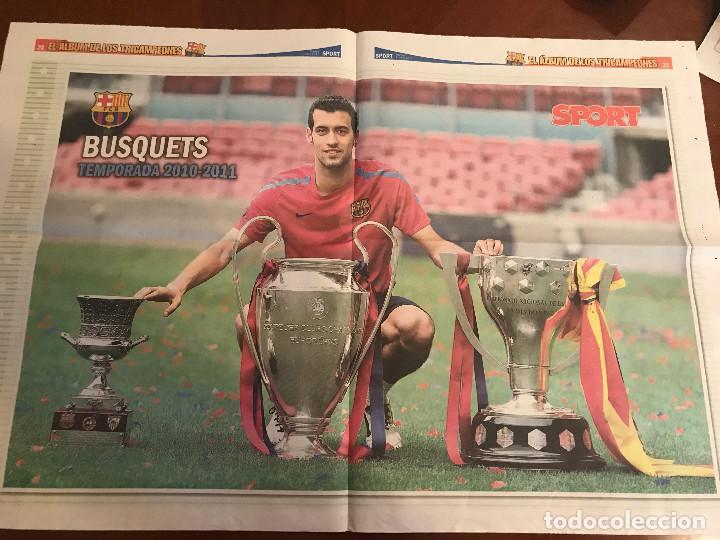 Coleccionismo deportivo: suplemento sport - busquets - album de tricampeones + poster del fc barcelona 10-11 - Foto 2 - 231805885