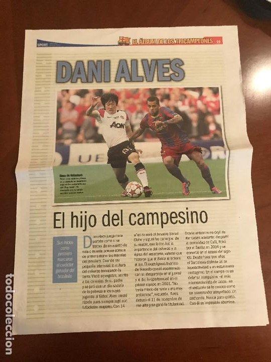 SUPLEMENTO SPORT - ALVES - ALBUM DE TRICAMPEONES + POSTER DEL FC BARCELONA 10-11 (Coleccionismo Deportivo - Revistas y Periódicos - Sport)