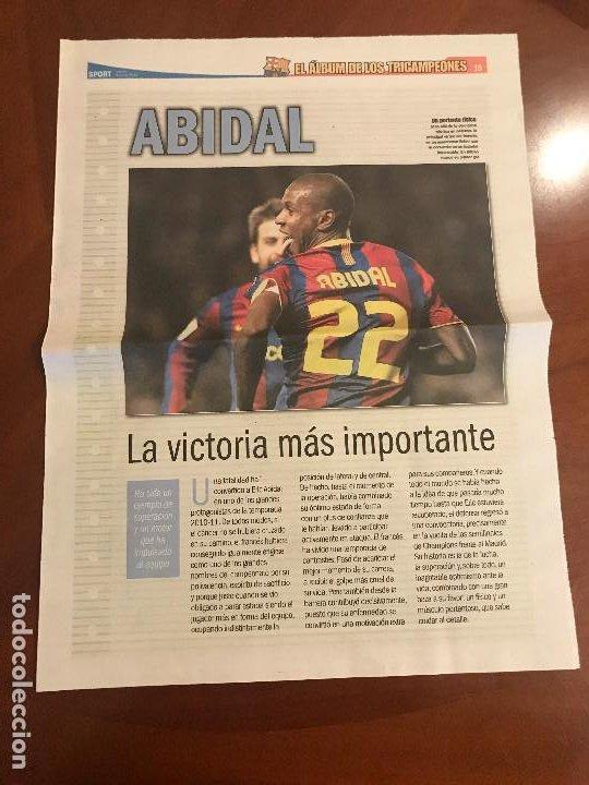 SUPLEMENTO SPORT - ABIDAL - ALBUM DE TRICAMPEONES + POSTER DEL FC BARCELONA 10-11 (Coleccionismo Deportivo - Revistas y Periódicos - Sport)