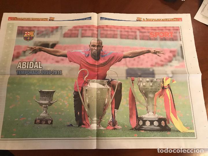 Coleccionismo deportivo: suplemento sport - abidal - album de tricampeones + poster del fc barcelona 10-11 - Foto 2 - 231806005