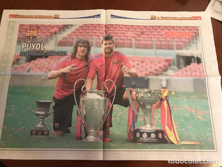 Coleccionismo deportivo: suplemento sport - puyol - album de tricampeones + poster del fc barcelona 10-11 - Foto 2 - 231806070