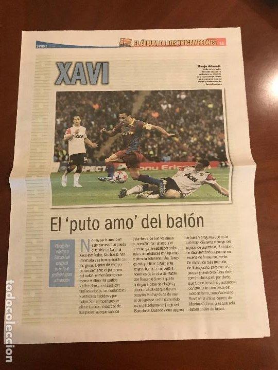 SUPLEMENTO SPORT - XAVI - ALBUM DE TRICAMPEONES + POSTER DEL FC BARCELONA 10-11 (Coleccionismo Deportivo - Revistas y Periódicos - Sport)