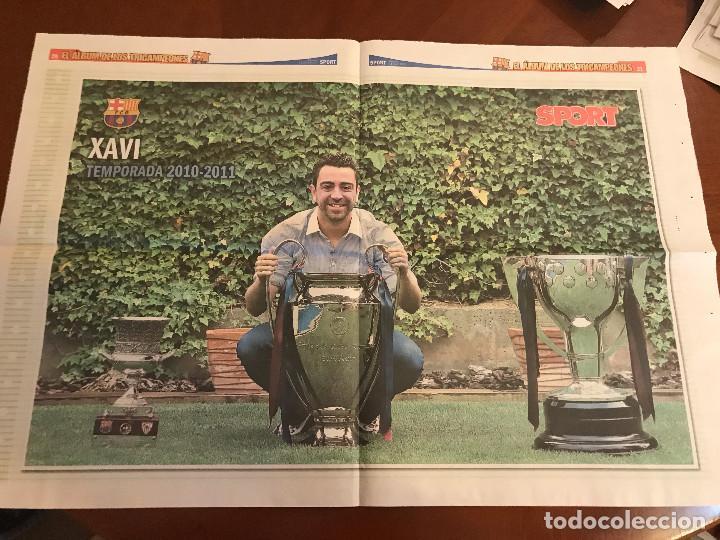 Coleccionismo deportivo: suplemento sport - xavi - album de tricampeones + poster del fc barcelona 10-11 - Foto 2 - 231806120