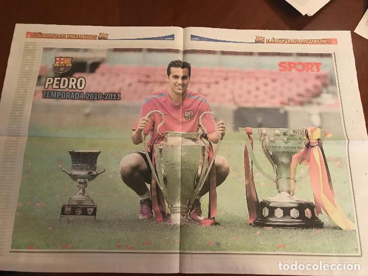 Coleccionismo deportivo: suplemento sport - pedro - album de tricampeones + poster del fc barcelona 10-11 - Foto 2 - 231806165