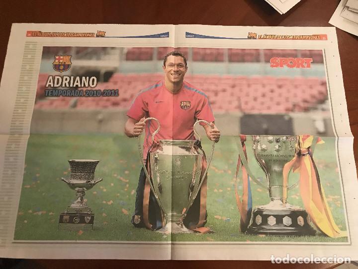 Coleccionismo deportivo: suplemento sport - adriano - album de tricampeones + poster del fc barcelona 10-11 - Foto 2 - 231806275
