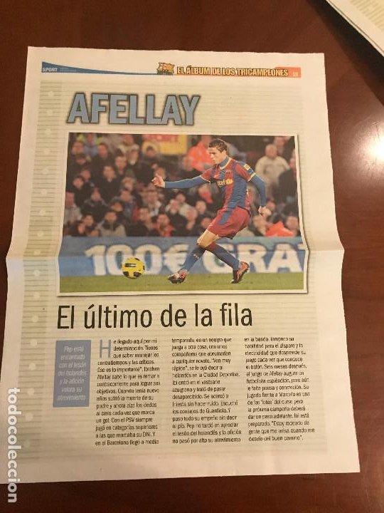 SUPLEMENTO SPORT - AFELLAY - ALBUM DE TRICAMPEONES + POSTER DEL FC BARCELONA 10-11 (Coleccionismo Deportivo - Revistas y Periódicos - Sport)