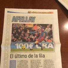 Coleccionismo deportivo: SUPLEMENTO SPORT - AFELLAY - ALBUM DE TRICAMPEONES + POSTER DEL FC BARCELONA 10-11. Lote 231806325