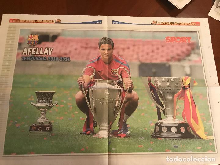Coleccionismo deportivo: suplemento sport - afellay - album de tricampeones + poster del fc barcelona 10-11 - Foto 2 - 231806325