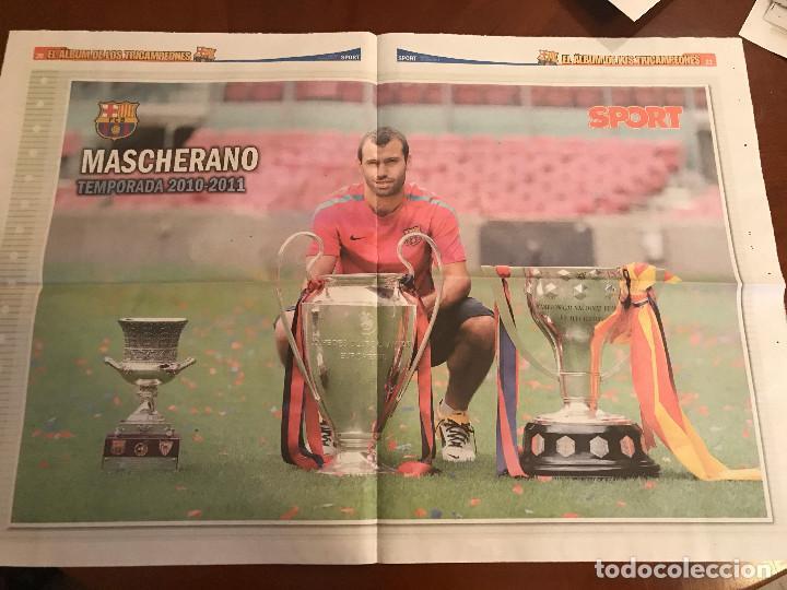 Coleccionismo deportivo: suplemento sport - mascherano - album de tricampeones + poster del fc barcelona 10-11 - Foto 2 - 231806425