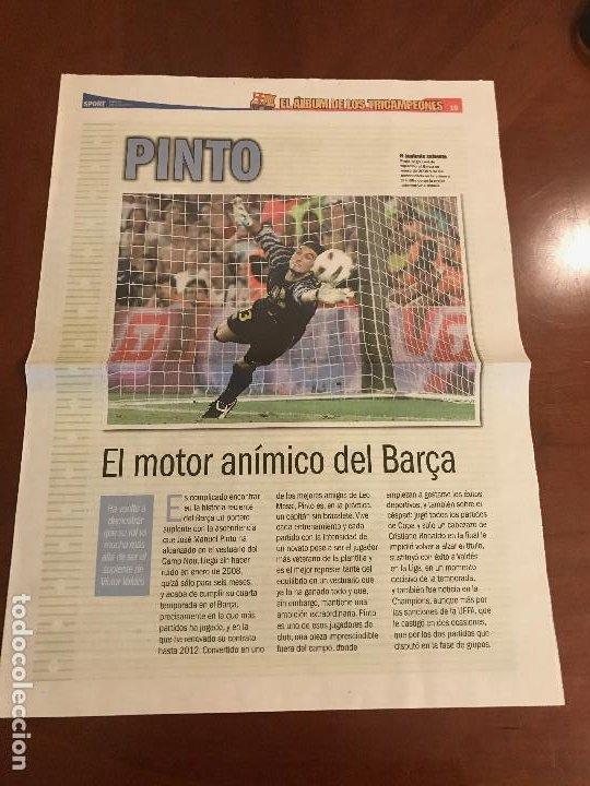SUPLEMENTO SPORT - PINTO - ALBUM DE TRICAMPEONES + POSTER DEL FC BARCELONA 10-11 (Coleccionismo Deportivo - Revistas y Periódicos - Sport)