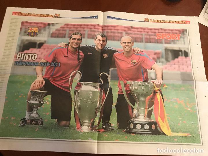 Coleccionismo deportivo: suplemento sport - pinto - album de tricampeones + poster del fc barcelona 10-11 - Foto 2 - 231806485