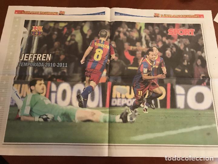 Coleccionismo deportivo: suplemento sport - jeffren - album de tricampeones + poster del fc barcelona 10-11 - Foto 2 - 231806560