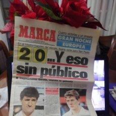Coleccionismo deportivo: REAL MADRID 2 NAPOLES 0. PUERTA CERRADA IDA. 1988. Lote 232068690
