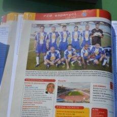 Collectionnisme sportif: RECORTE DON BALON LIGA 2005-06,FOTO DE LA PLANTILLA Y LISTADO DE JUGADORES RCD ESPANYOL. Lote 232293790