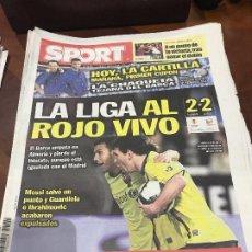 Colecionismo desportivo: PORTADA SPORT 07-03-2010 EMPATE LIGA ALMERIA - FC BARCELONA. Lote 232738445