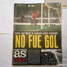 Coleccionismo deportivo: DIARIO AS COLOR PERIODICO DEPORTIVO DE 1975 POSTER RAYO VALLECANO. Lote 232802310