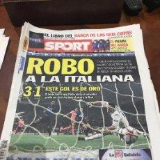 Collectionnisme sportif: PORTADA SPORT 21-04-2010 DERROTA CHAMPIONS IDA INTER - FC BARCELONA. Lote 232977800