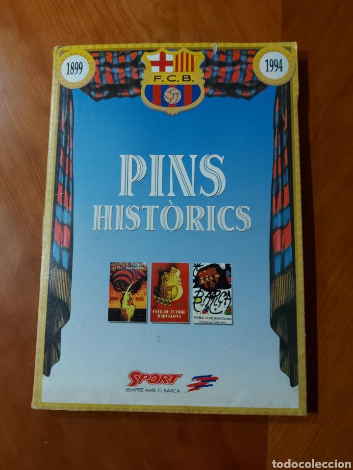 Coleccionismo deportivo: Diari Sport Pins Històrics del Barça 9 Láminas + pin Balón oro Stoichkov 1994 - Foto 11 - 232990775