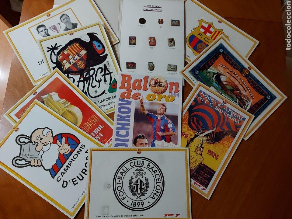 DIARI SPORT PINS HISTÒRICS DEL BARÇA 9 LÁMINAS + PIN BALÓN ORO STOICHKOV 1994 (Coleccionismo Deportivo - Revistas y Periódicos - Sport)
