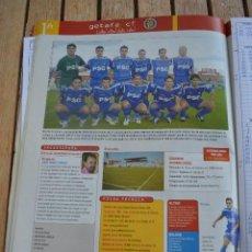 Collectionnisme sportif: RECORTE DON BALON LIGA 2005-06,FOTO DE LA PLANTILLA Y LISTADO DE JUGADORES GETAFE CF. Lote 233271335