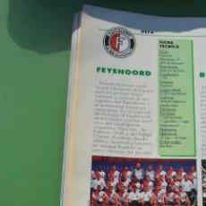 Collezionismo sportivo: RECORTE DON BALON COPAS DE EUROPA 96-97,FOTO DE LA PLANTILLA Y LISTADO DE JUGADORES FEYENOORD. Lote 233280640