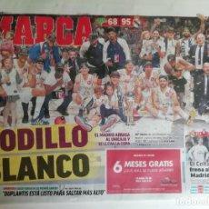 Coleccionismo deportivo: MARCA: REAL MADRID DE BALONCESTO GANA LA COPA AÑO 2020. Lote 233358585