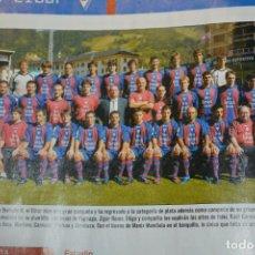 Colecionismo desportivo: RECORTE DE DON BALON EXTRA LIGA 2007-08.FOTOPLANTILLA Y LISTA DE JUGADORES SD EIBAR. Lote 233386080