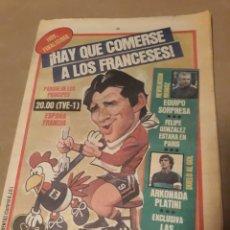 Coleccionismo deportivo: DIARIO SPORT 27 DE JUNIO DE 1984 . FINAL EUROCOPA 1984 . ESPAÑA - FRANCIA HAY QUE COMERSE A FRANCIA. Lote 233431605