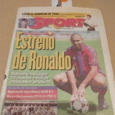 Collectionnisme sportif: DIARIO SPORT ESTRENO DE RONALDO 1996. Lote 233440765