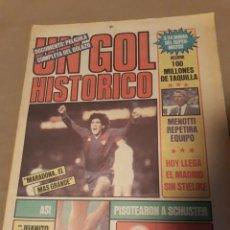 Collectionnisme sportif: DIARIO SPORT N° 1298 . UN GOL HISTORICO DE MARADONA , AL REAL MADRID EN COPA DEL REY AÑO 1983 .. Lote 233556220