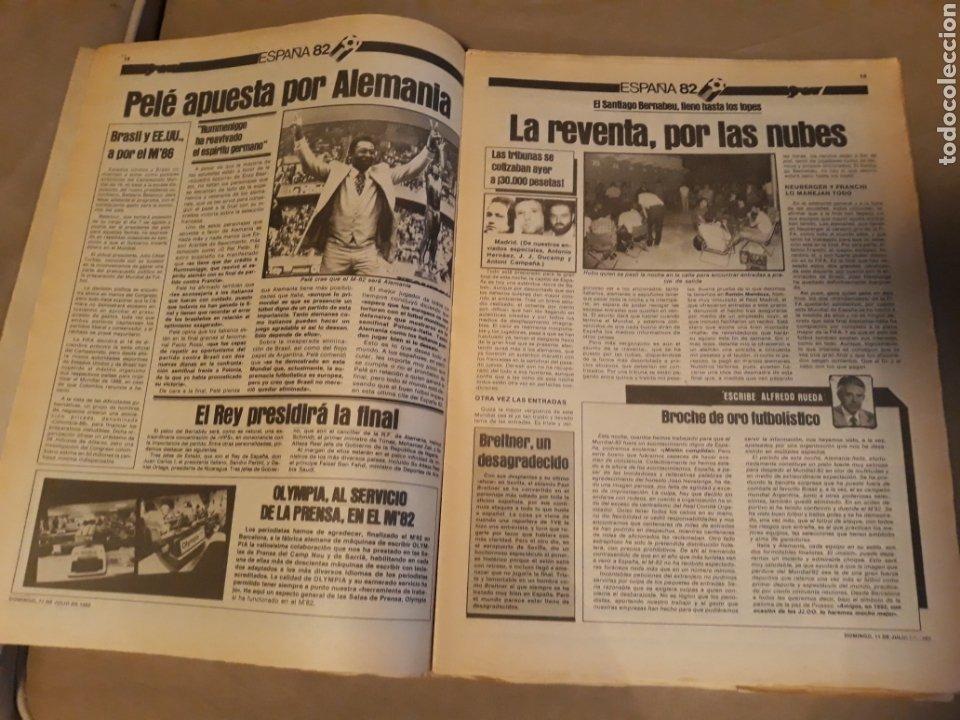 Coleccionismo deportivo: DIARIO SPORT 11-7-1982 . HOY LA FINAL , ALEMANIA O ITALIA . ¡ TRICAMPEONES ! MUNDIAL ESPAÑA 82 - Foto 5 - 233636385