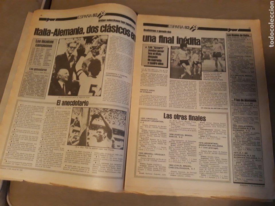 Coleccionismo deportivo: DIARIO SPORT 11-7-1982 . HOY LA FINAL , ALEMANIA O ITALIA . ¡ TRICAMPEONES ! MUNDIAL ESPAÑA 82 - Foto 7 - 233636385