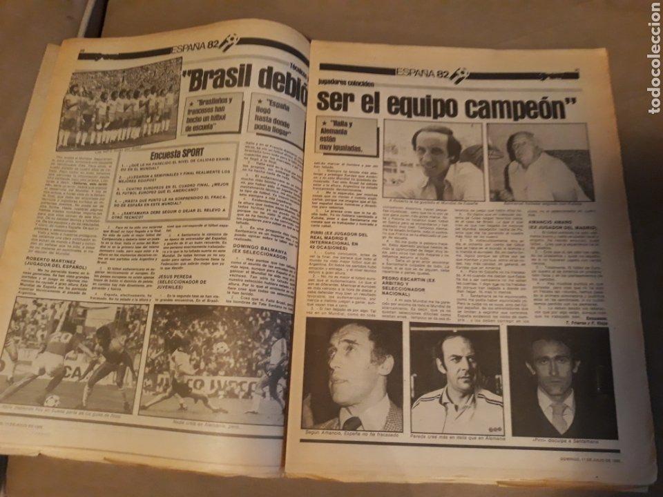Coleccionismo deportivo: DIARIO SPORT 11-7-1982 . HOY LA FINAL , ALEMANIA O ITALIA . ¡ TRICAMPEONES ! MUNDIAL ESPAÑA 82 - Foto 8 - 233636385