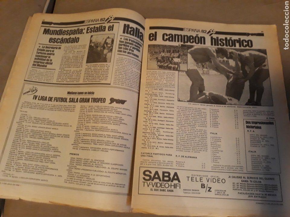 Coleccionismo deportivo: DIARIO SPORT 11-7-1982 . HOY LA FINAL , ALEMANIA O ITALIA . ¡ TRICAMPEONES ! MUNDIAL ESPAÑA 82 - Foto 9 - 233636385