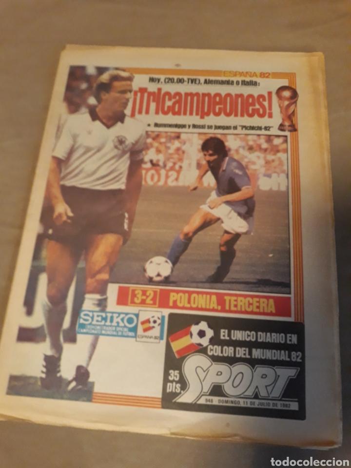 DIARIO SPORT 11-7-1982 . HOY LA FINAL , ALEMANIA O ITALIA . ¡ TRICAMPEONES ! MUNDIAL ESPAÑA 82 (Coleccionismo Deportivo - Revistas y Periódicos - Sport)