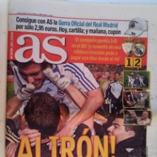 Coleccionismo deportivo: DIARIO AS Nº 13.567 LUNES 5 MAYO 2008 ALIRON REAL MADRID+SUPLEMENTO DE EL MUNDO. Lote 233855970