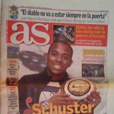 Coleccionismo deportivo: DIARIO AS 13.396 MARTES 13 DE NOVIEMBRE DE 2007 ROBINHO. Lote 233856935