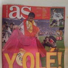 Coleccionismo deportivo: AS Nº 13.252 LUNES 18 DE JUNIO DE 2007 REAL MADRID CAMPEON. Lote 233857055