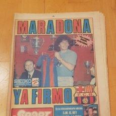 Collezionismo sportivo: PERIÓDICO SPORT AÑO 1982 MARADONA YA FIRMÓ FC BARCELONA FUTBOL NUMERO 910 COMPLETO Y GRAN ESTADO. Lote 233918270