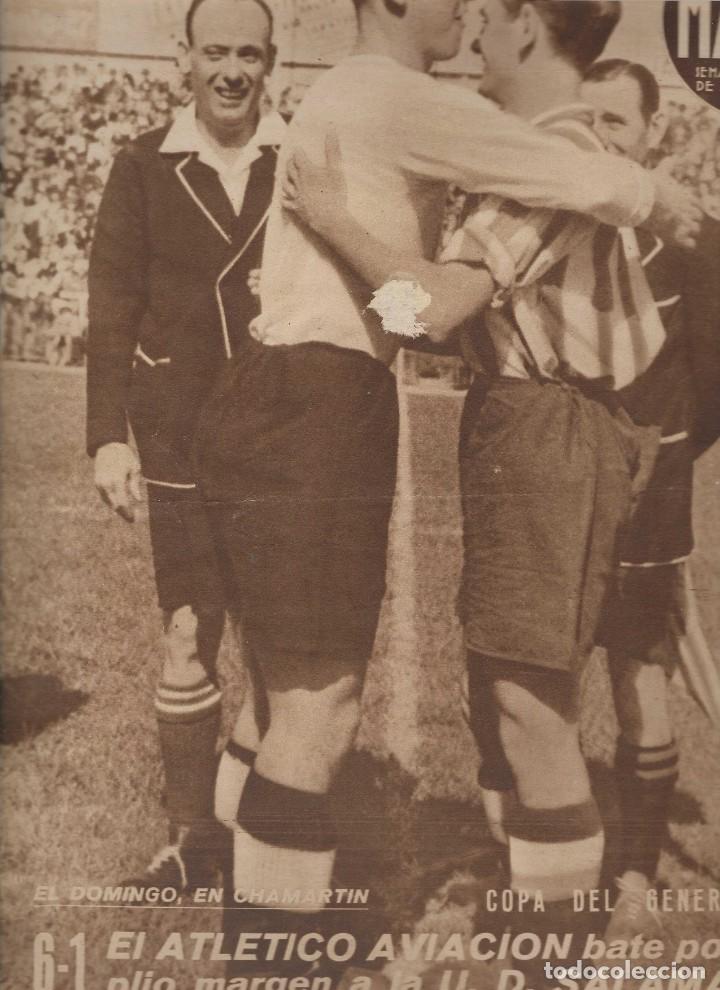 2871. MARCA. 5 MAYO 1942. SUPLEMENTO GRAFICO. ATLETICO AVIACION 6 SALAMANCA 1 /BILBAO 8 LOGROÑES 1 (Coleccionismo Deportivo - Revistas y Periódicos - Marca)