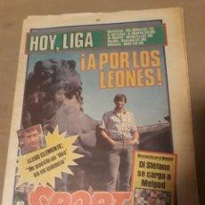 Coleccionismo deportivo: DIARIO SPORT 31 SEPTIEMBRE 1883 . BARCELONA - BILBAO . ¡A POR LOS LEONES !. MARADONA CID CAMPEADOR.. Lote 234098150