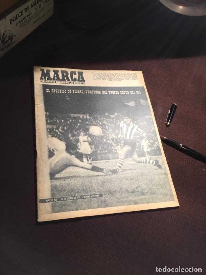 ANTIGUO PERIODICO ATHLETIC CLUB DE BILBAO CAMPEÓN NUEVO TROFEO 1961 (Coleccionismo Deportivo - Revistas y Periódicos - Marca)