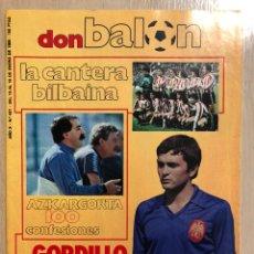 Collectionnisme sportif: DON BALÓN 431 (ENERO 1984) LA CANTERA ATH. BILBAO. MARADONA. GORDILLO. AZKAGORTA. INDEPENDIENTE AVEL. Lote 234622005