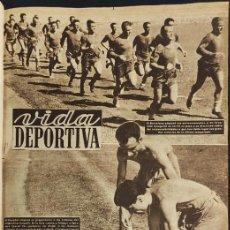 Coleccionismo deportivo: TOMO ENCUADERNADO VIDA DEPORTIVA - TEMPORADA 1952 1953 - 45 PERIODICOS -. Lote 234631830