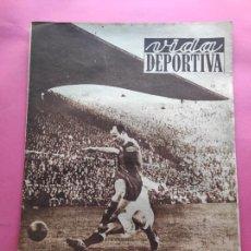 Coleccionismo deportivo: VIDA DEPORTIVA Nº 338 1952 LIGA 51/52 NASTIC LUCENSE - AT. MADRID 8-0 TETUAN - BARÇA 4-2 REAL MADRID. Lote 234642580