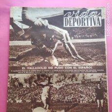 Coleccionismo deportivo: VIDA DEPORTIVA Nº 341 1952 LIGA 51/52 SEVILLA 3-0 BARÇA - RCD ESPAÑOL - LERIDA 1-0 BARACALDO MALAGA. Lote 234644645