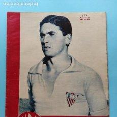 Coleccionismo deportivo: PERIODICO MARCA 1945 COPA 44/45 MADRID-SEVILLA - RCD ESPAÑOL CASTELLON OVIEDO ALCOYANO - CICLISMO. Lote 234846390