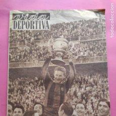 Coleccionismo deportivo: VIDA DEPORTIVA Nº 350 FC BARCELONA CAMPEON COPA 1951/1952 - BARÇA-VALENCIA 51/52 - JOVENTUT. Lote 234852465