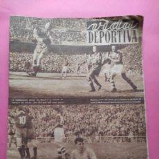 Coleccionismo deportivo: VIDA DEPORTIVA Nº 351 1952 ESPAÑA 6-2 IRLANDA - BARÇA 5-1 MANCHESTER CITY - TOUR FRANCIA 52 COPPI. Lote 234853810
