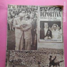 Coleccionismo deportivo: VIDA DEPORTIVA Nº 353 1952 JJOO HELSINKI 52 - BASORA - BARÇA 8-2 NIZA - CICLISMO 6 DIAS BARCELONA. Lote 234856590